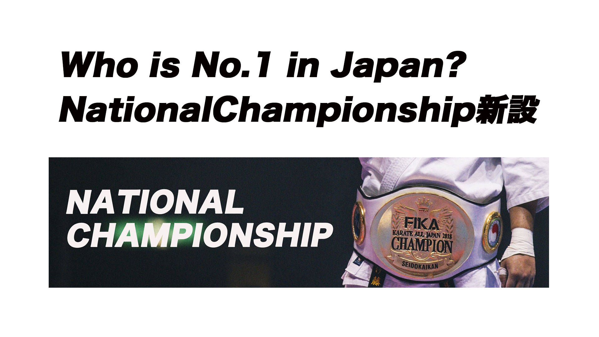 KARATE ALL JAPAN National Championship新設